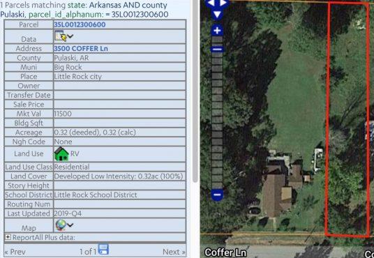 Cheapest Land Lot in Little Rock, Arkansas