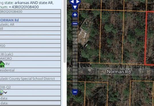 AR Land- North Little Rock Land. Pulaski North Little Rock AR